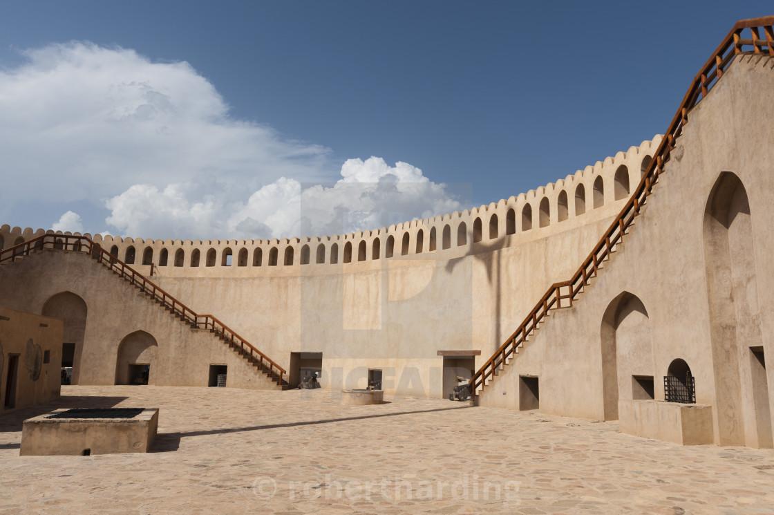 """Nizwa fort, Oman, Middle East"" stock image"