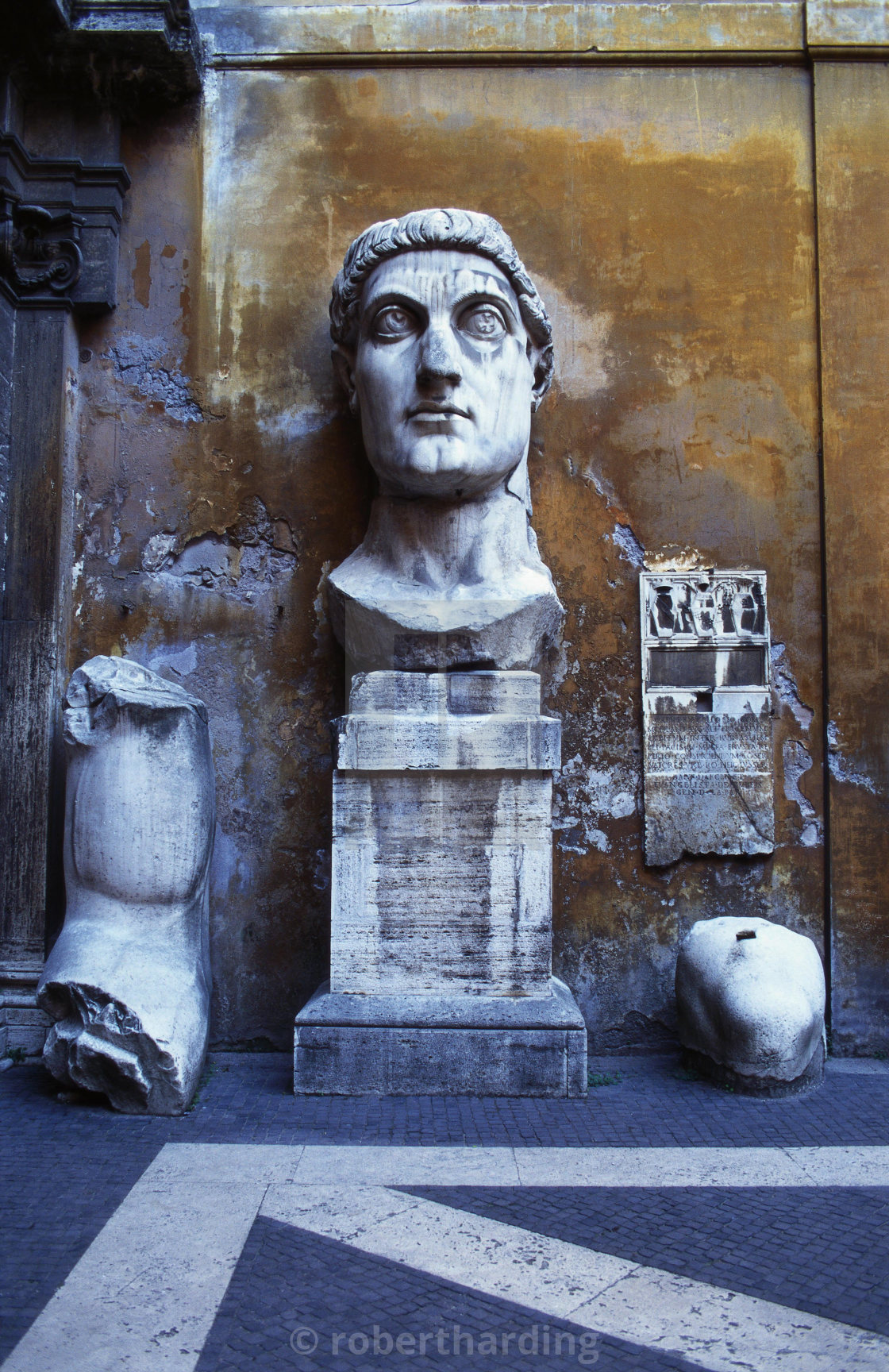 """""""Incomplete Statue, Palace of the Conservatori, Rome, Italy"""" stock image"""