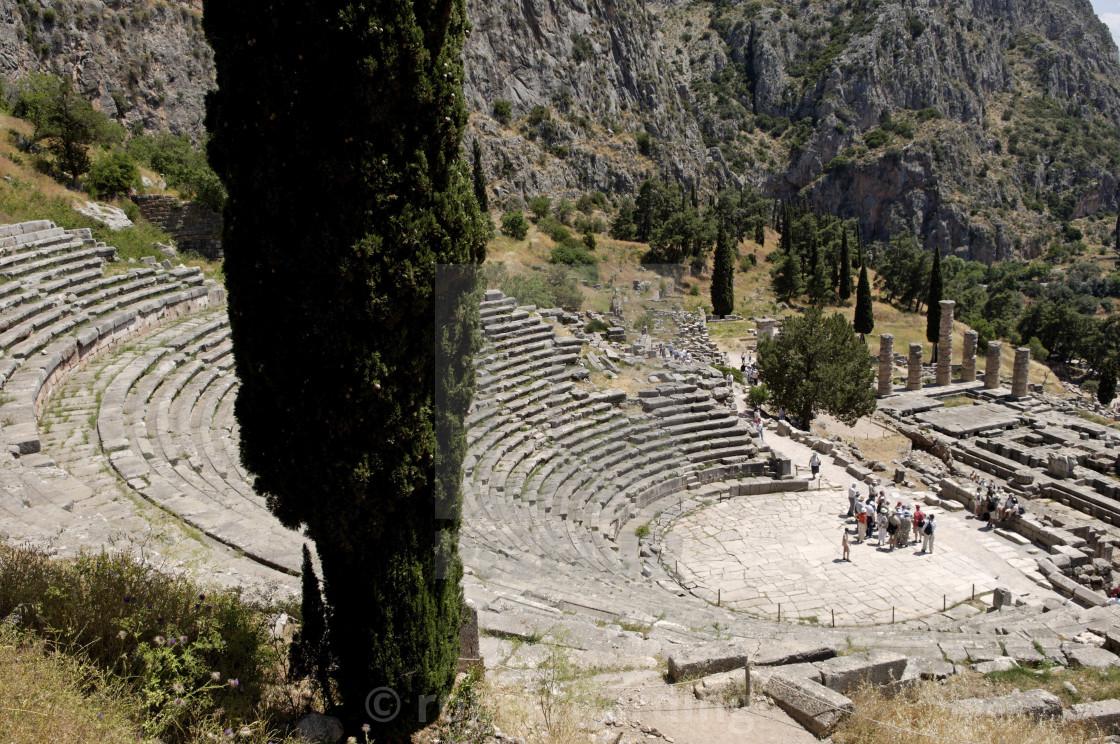 The Ancient Theater, Delphi, UNESCO World Heritage Site, Peloponnese