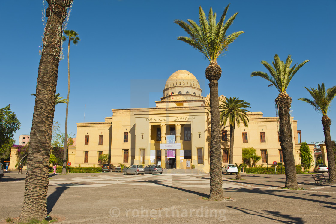"""Theatre Royal (Royal Theatre), Marrakech (Marrakesh), Morocco, North Africa,..."" stock image"