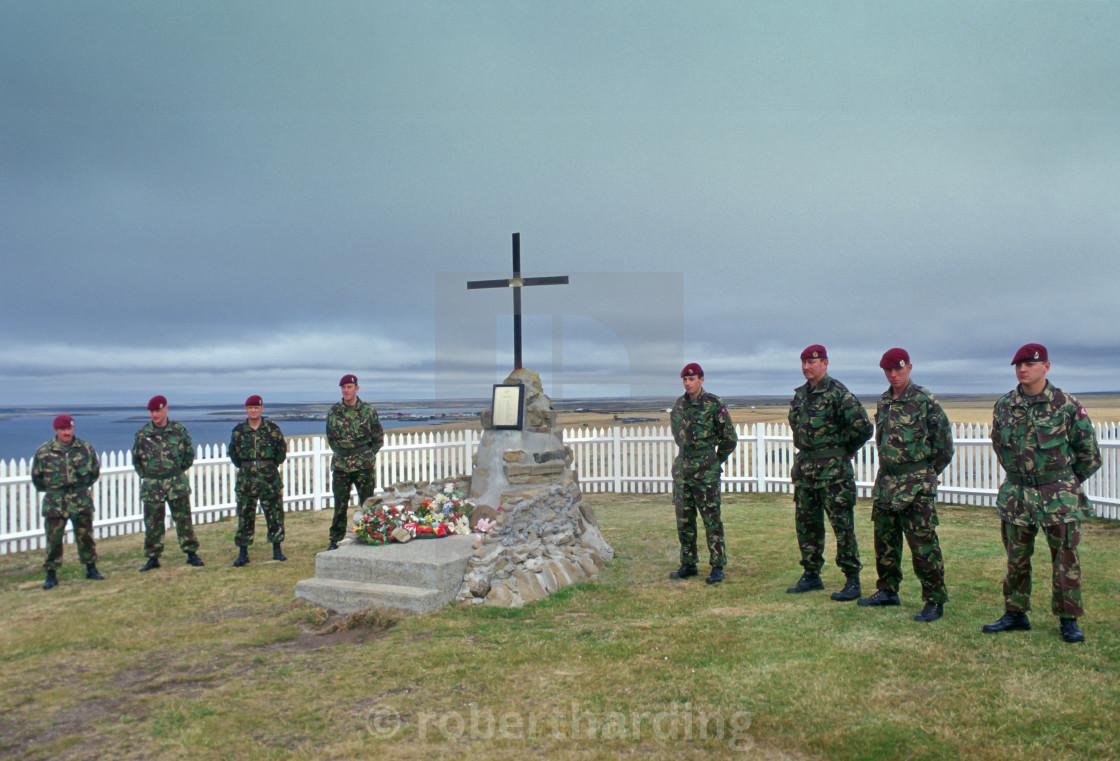 Soldiers of 2nd Battalion Parachute Regiment at 2 Para