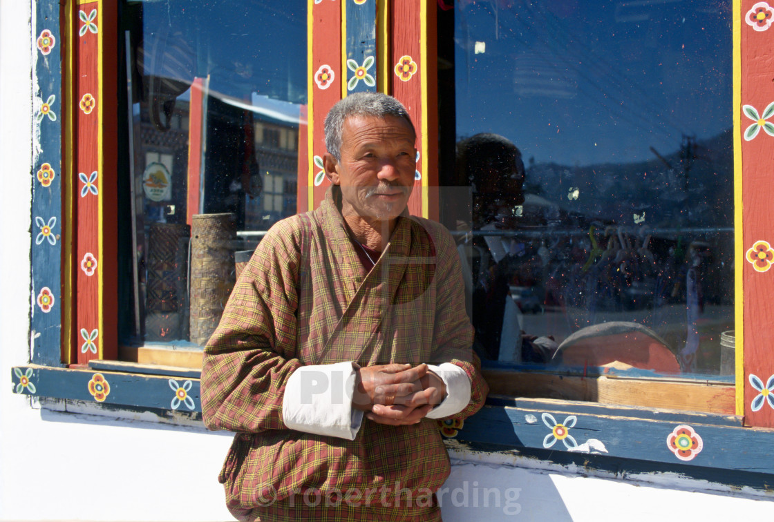 """Man in Paro, Butan"" stock image"