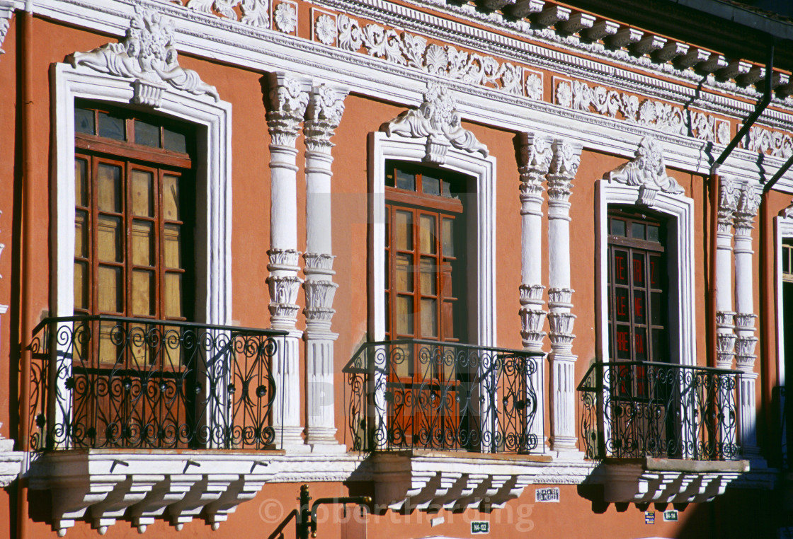 Sunlight On Neoclassical Architecture Of A Building In Colonial
