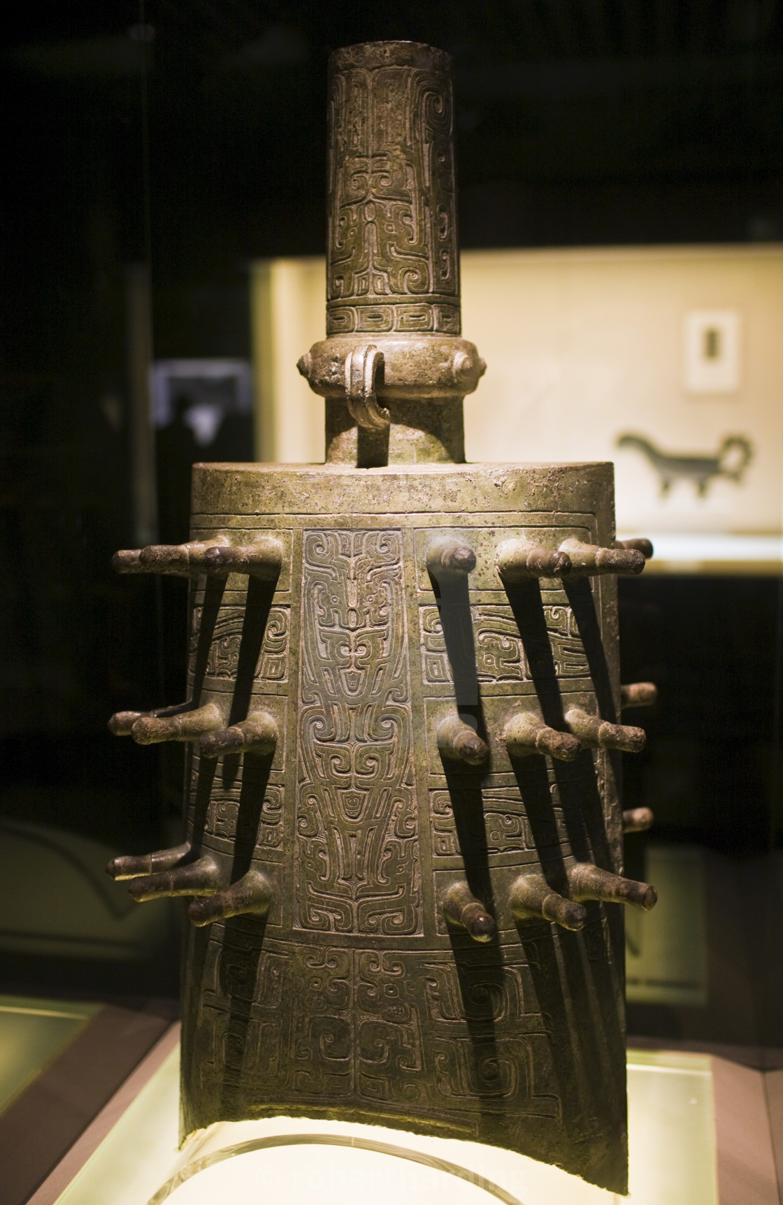 """Zhong Dynasty bell on display in the Shanghai Museum, China"" stock image"
