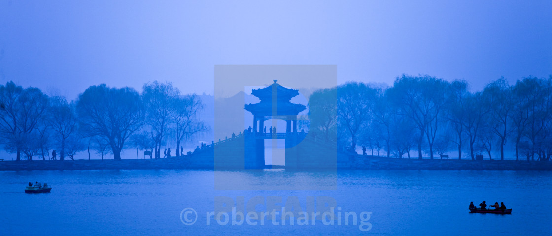 """Kunming Lake At The Summer Palace (formerly Garden of Clear Ripples),..."" stock image"