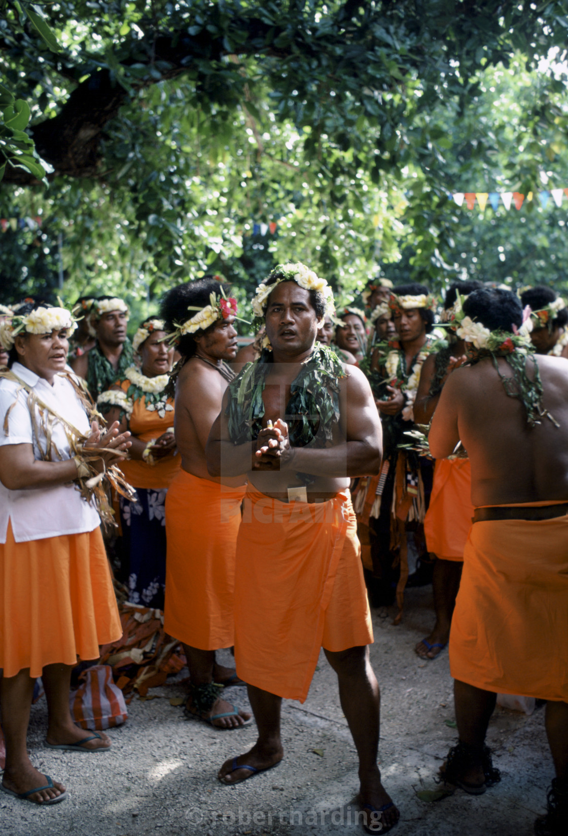 """Local people at cultural event in Tuvalu, South Pacific"" stock image"