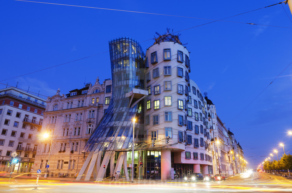 """Fred and Ginger Dance School, Dancing House, designed by Frank O Geary,..."" stock image"