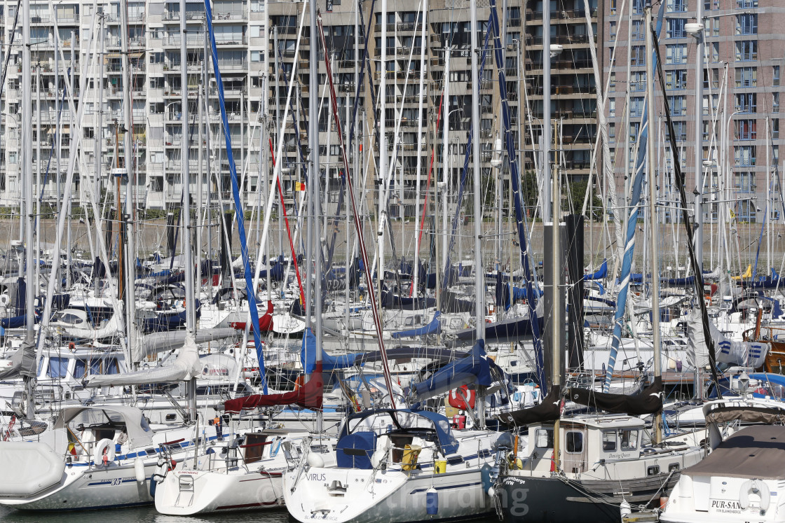 """Blankenberge Marina, West Flanders, Belgium, Europe"" stock image"