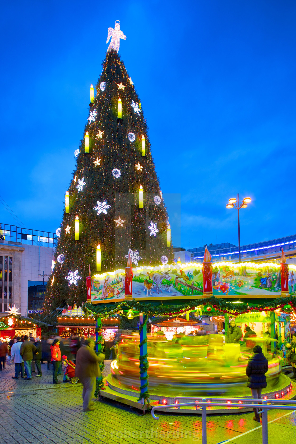 christmas market and the biggest christmas tree in the world hansaplatz - Biggest Christmas Tree In The World