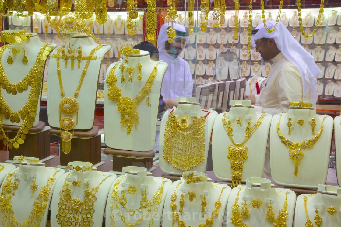 Gold Souk, Abu Dhabi, United Arab Emirates, Middle East - License