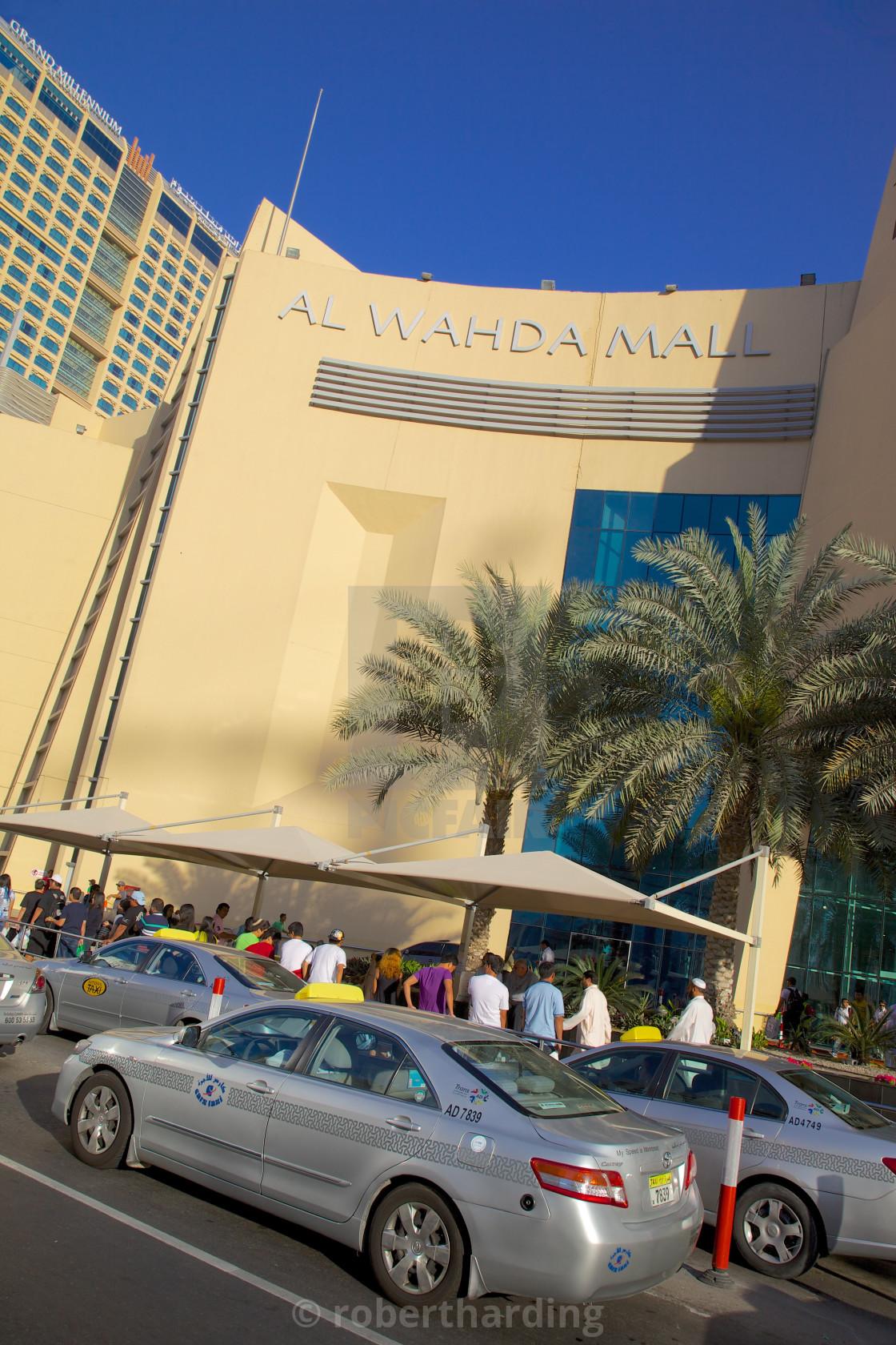Al Wahda Mall and taxis, Abu Dhabi, United Arab Emirates