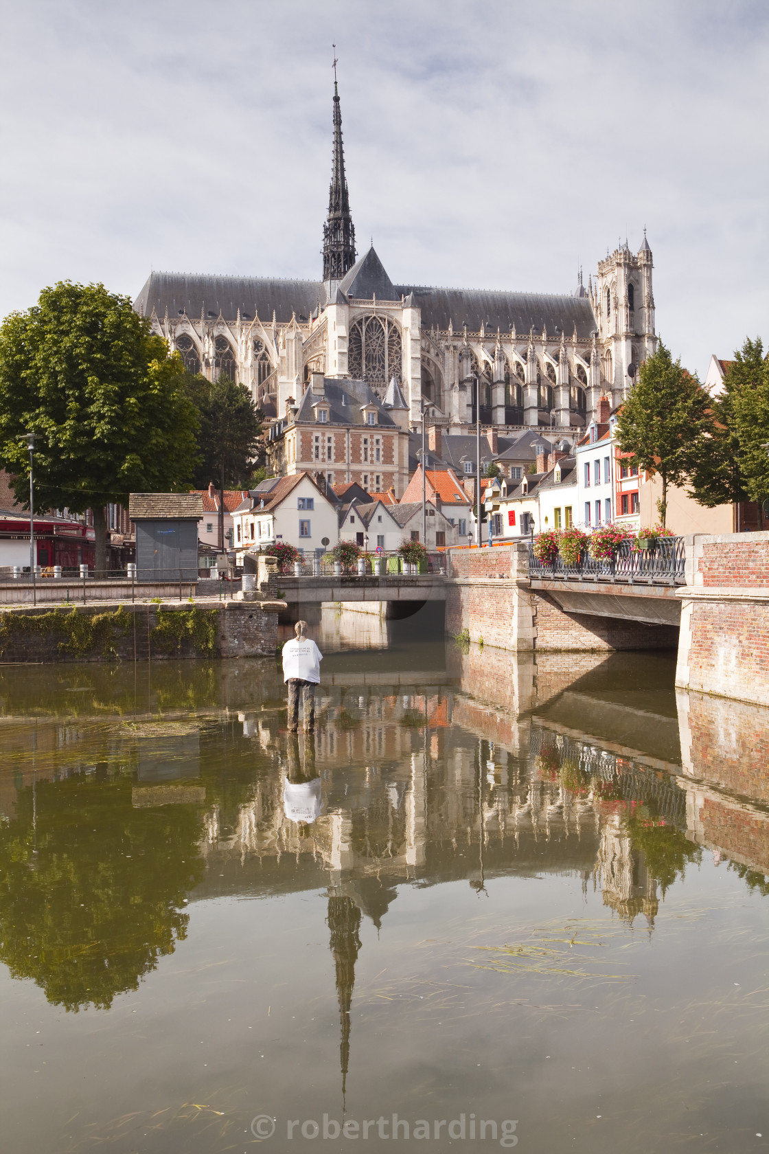 """""""Notre Dame d'Amiens Cathedral, UNESCO World Heritage Site, Amiens, Somme,..."""" stock image"""