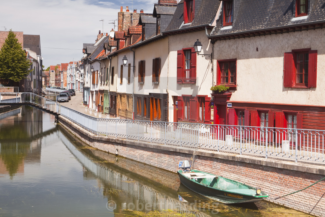 """""""Houses in the Saint Leu district of Amiens, Somme, Picardy, France, Europe"""" stock image"""