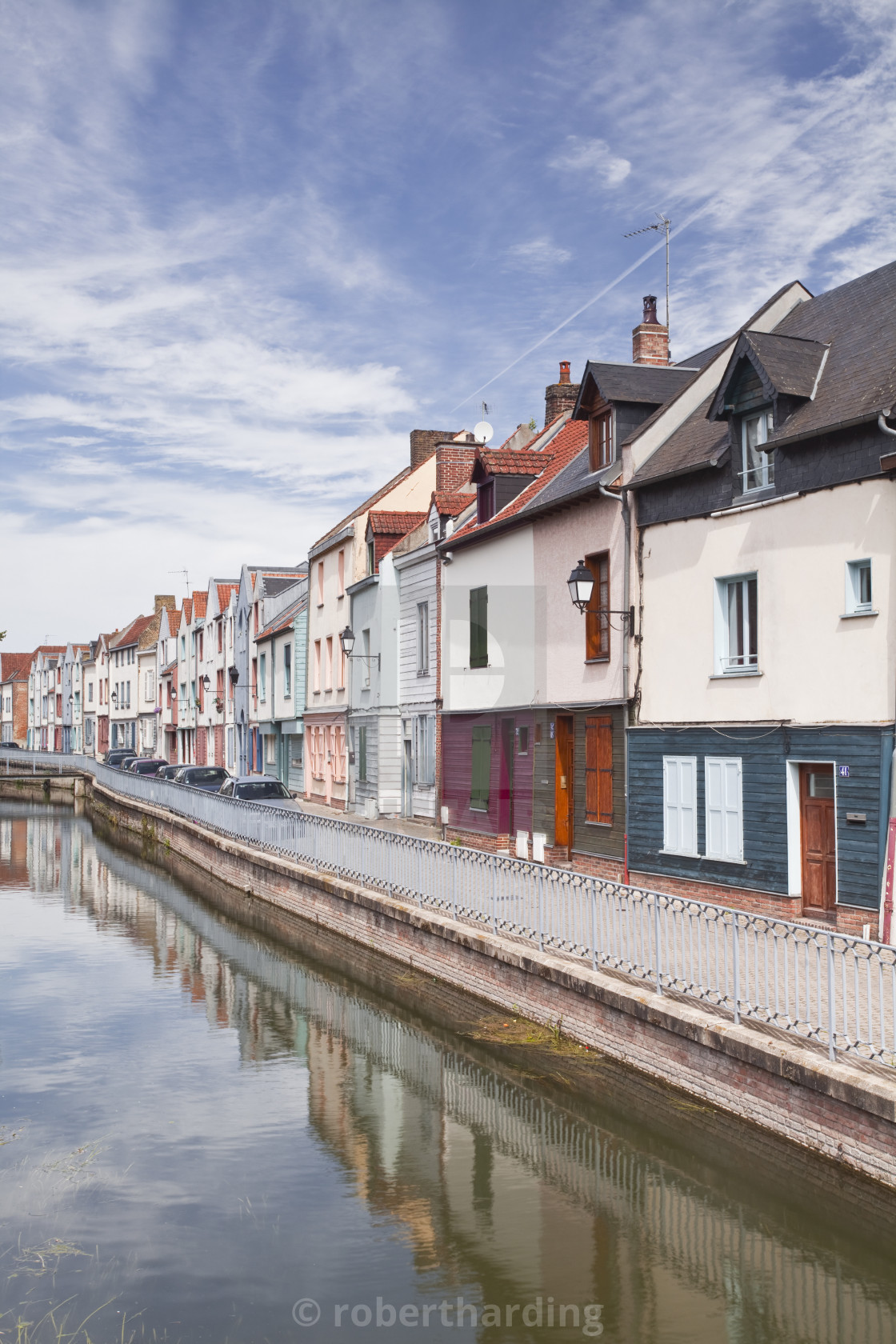 """""""Colourful houses in the Saint Leu district of Amiens, Somme, Picardy, France,..."""" stock image"""