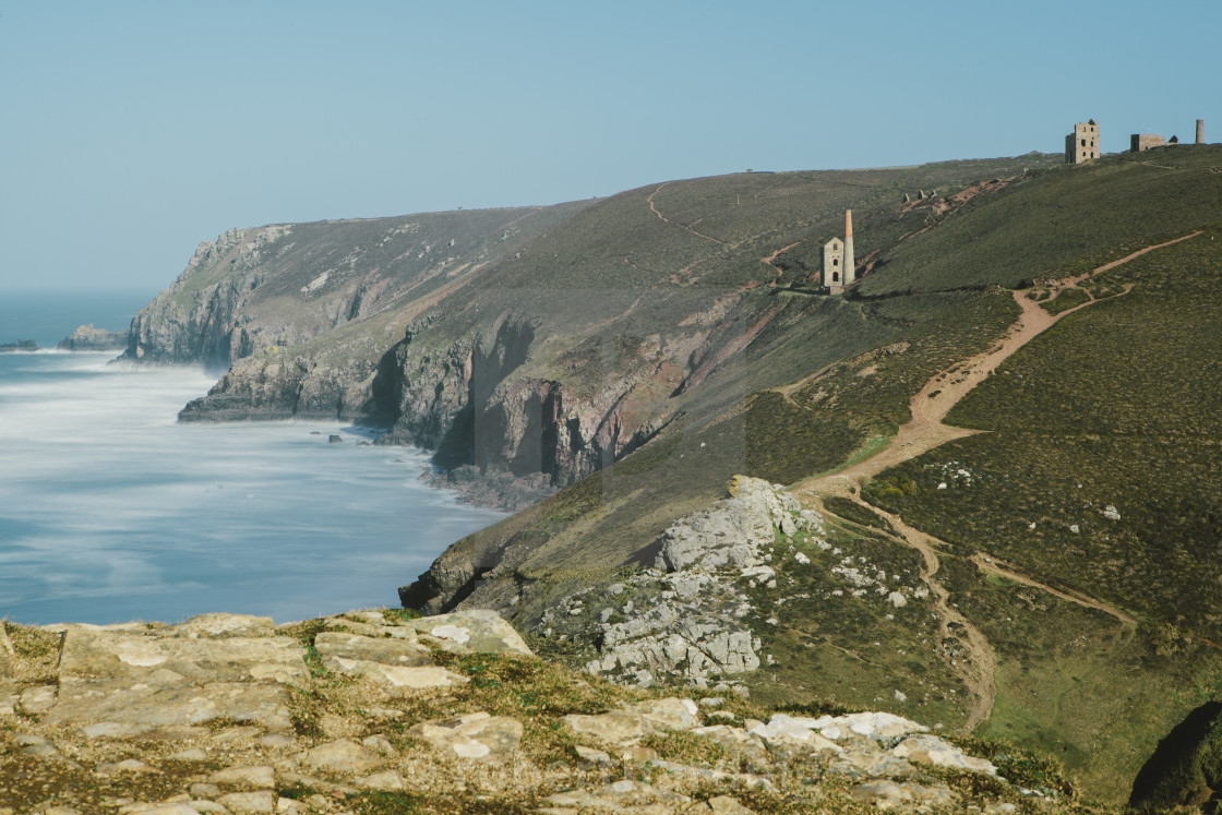 """Wheal Coates Tin Mine, UNESCO World Heritage Site, St. Agnes, Cornwall,..."" stock image"