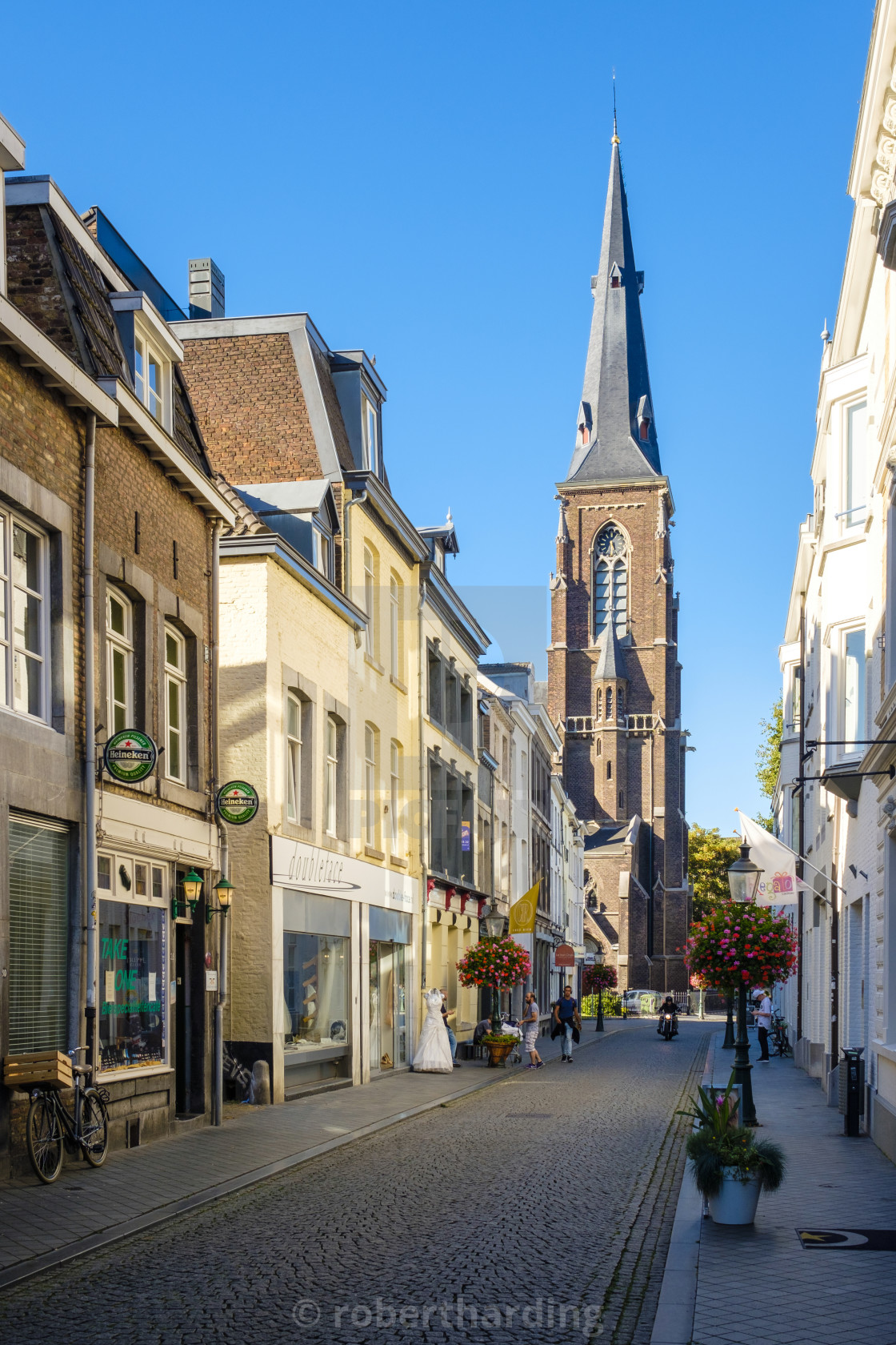 Netherlands, Limburg, Maastricht  Shopping streets in Wyck