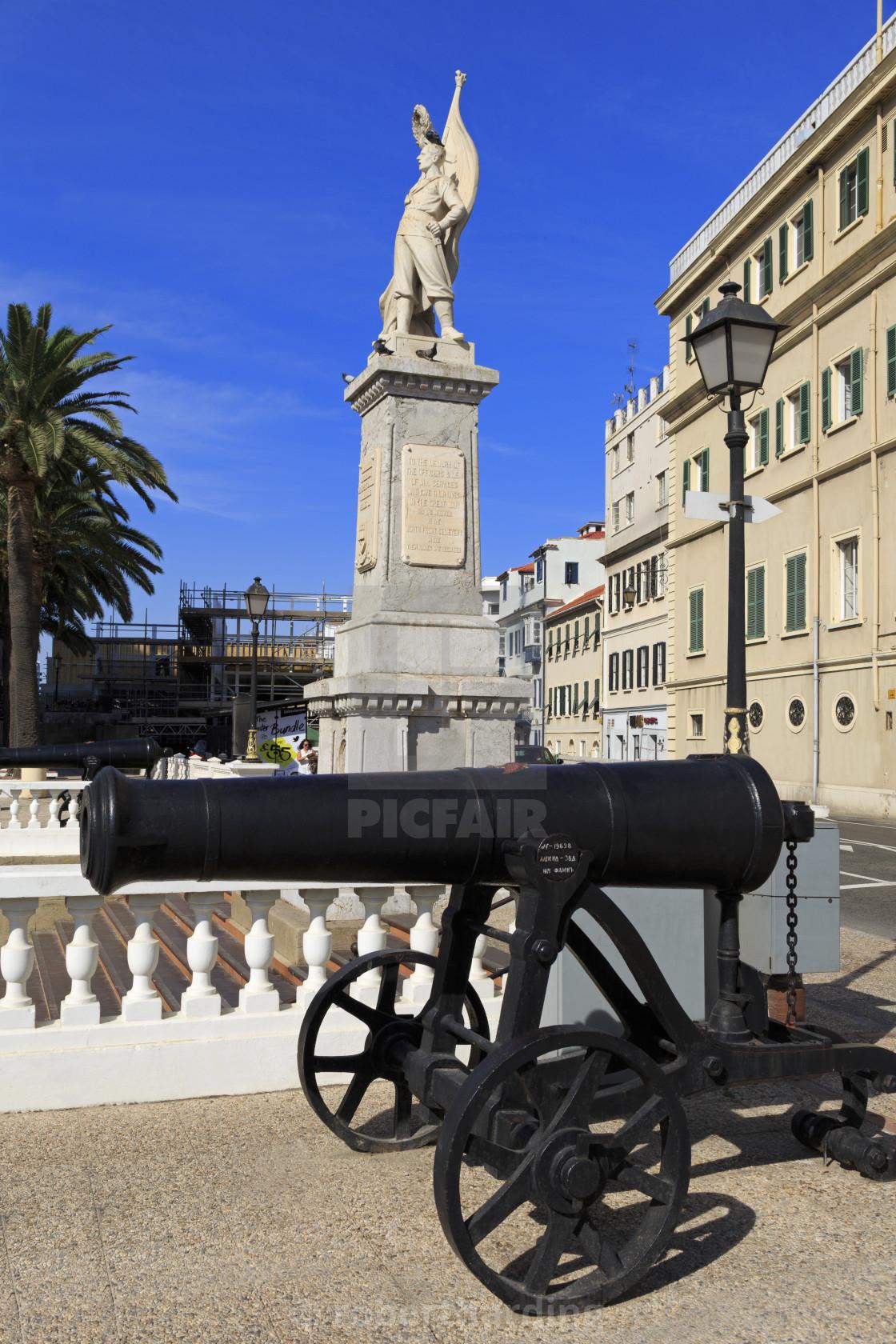 """Great War Memorial, Gibraltar, United Kingdom, Europe"" stock image"