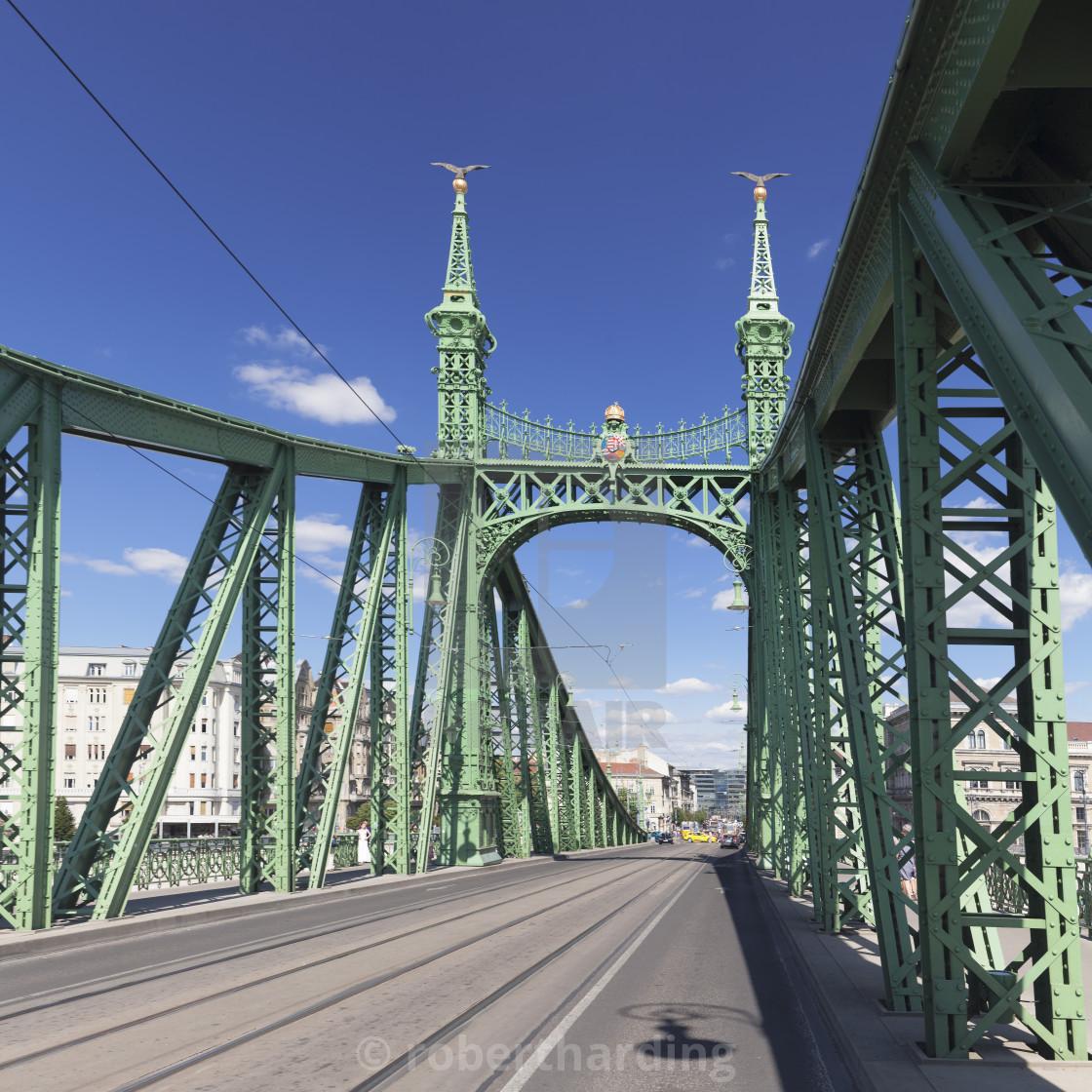 """Liberty Bridge, Budapest, Hungary"" stock image"