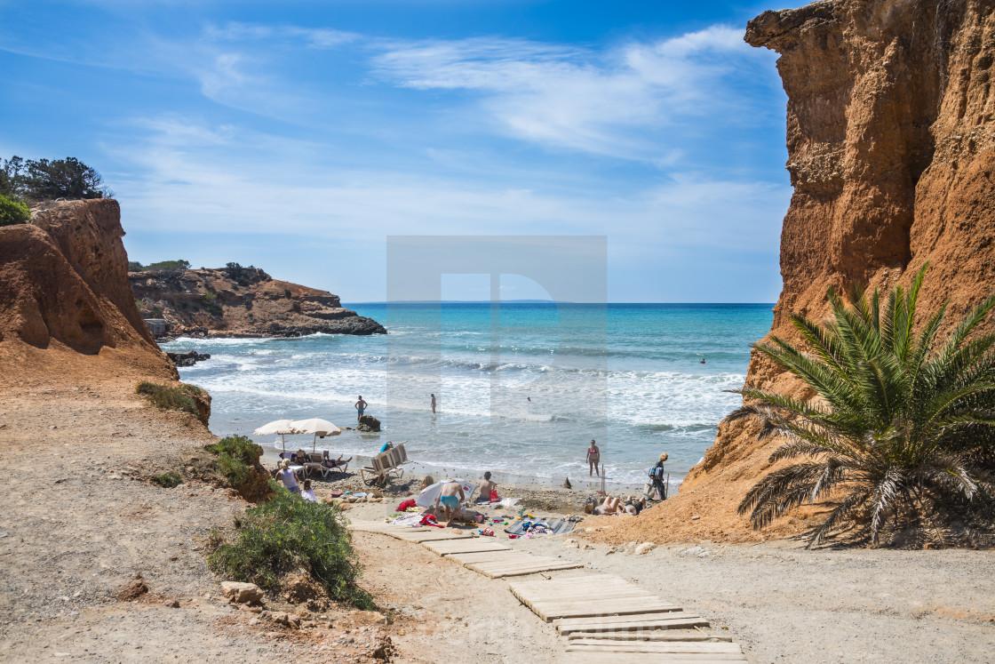 Sa caleta beach, Ibiza, Spain - License, download or print