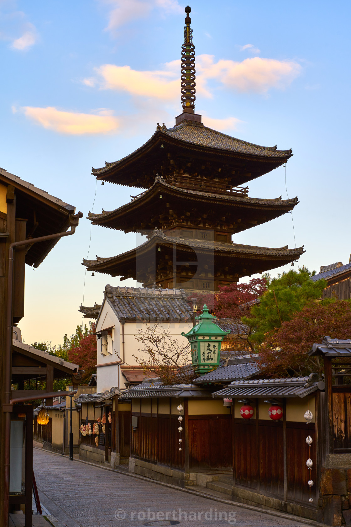 """Yasaka Pagoda & Sannen Zaka Street in the morning in Higashiyama, Kyoto."" stock image"