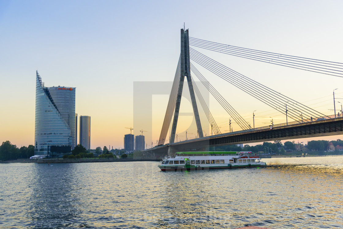 """Vansu Bridge, Riga, Latvia"" stock image"