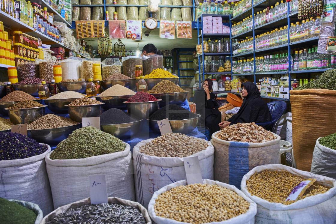 Iran, Kerman province, Kerman, End to End bazaar - License