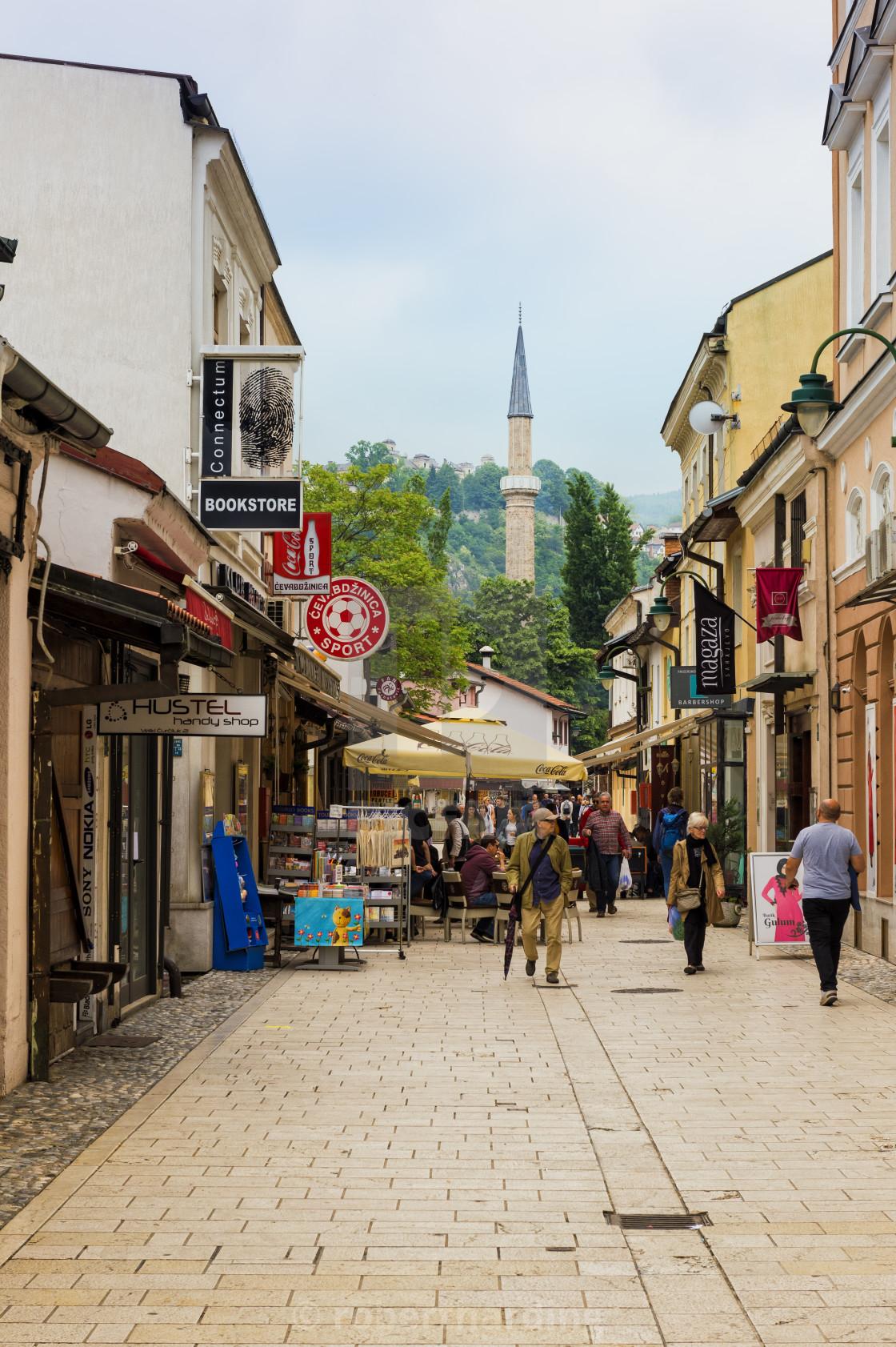 Bascarsija old bazar, Sarajevo, Bosnia and Herzegovina - License