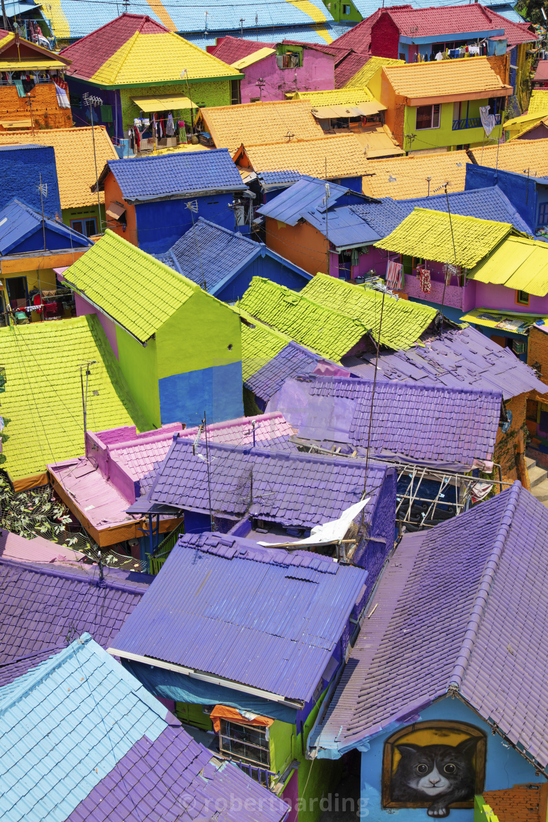Indonesia Java Malang The Brightly Painted Warna Warni Kampong Or Shanty License Download Or Print For 79 84 Photos Picfair