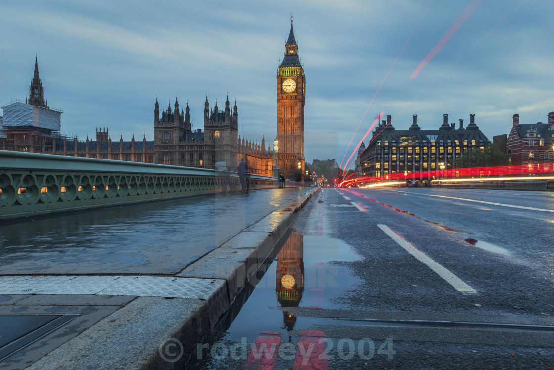 """Big Ben Reflection"" stock image"