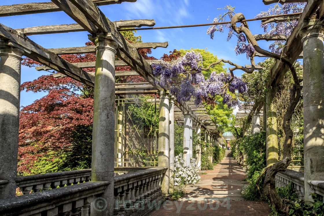 """Hill Garden & Pergola"" stock image"