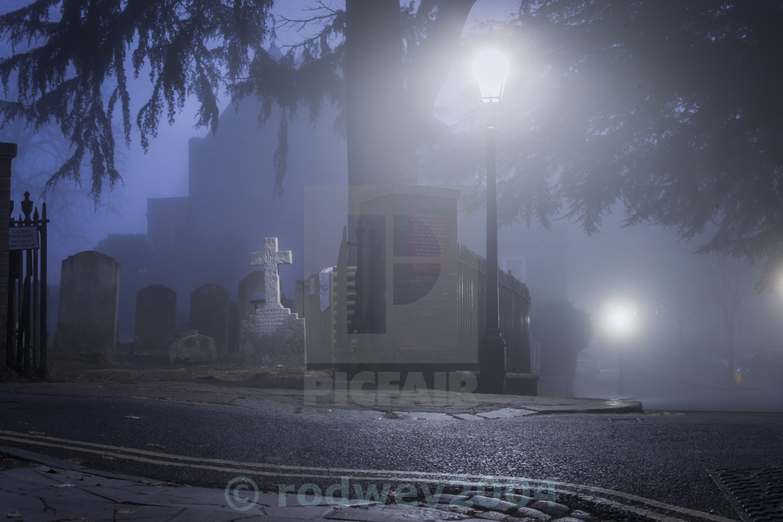 """Dawn At The Cemetery"" stock image"