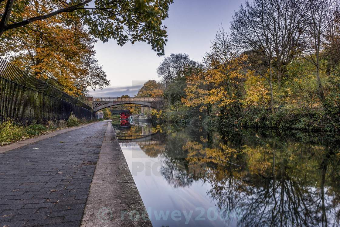 """Canalside View"" stock image"