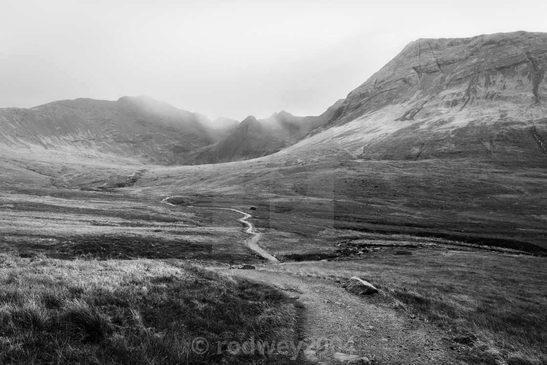 """""""Trail To Fairy Pools"""" stock image"""