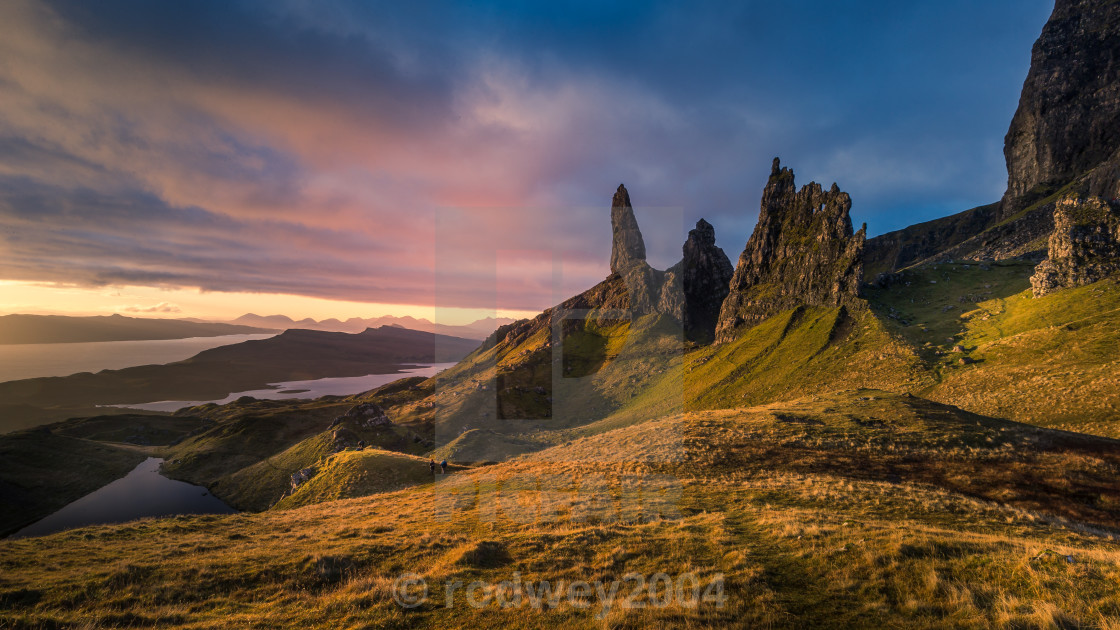 """Bodach an Stoir (The Old Man of Storr)"" stock image"