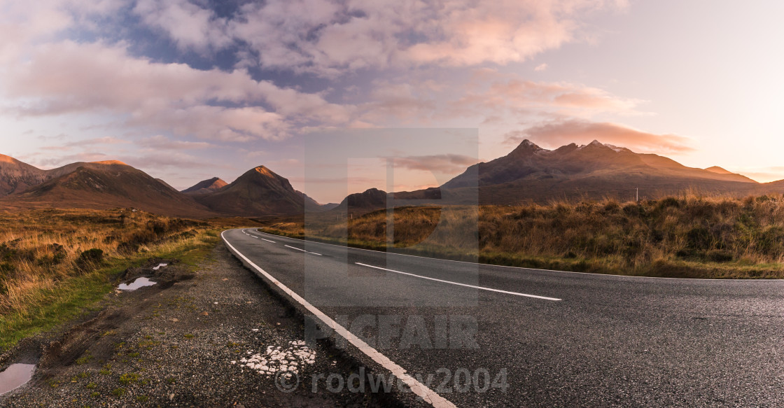 """Road To The Mountains"" stock image"