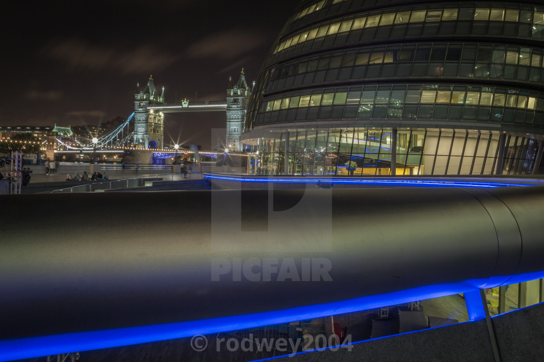 """Tower Bridge Night"" stock image"