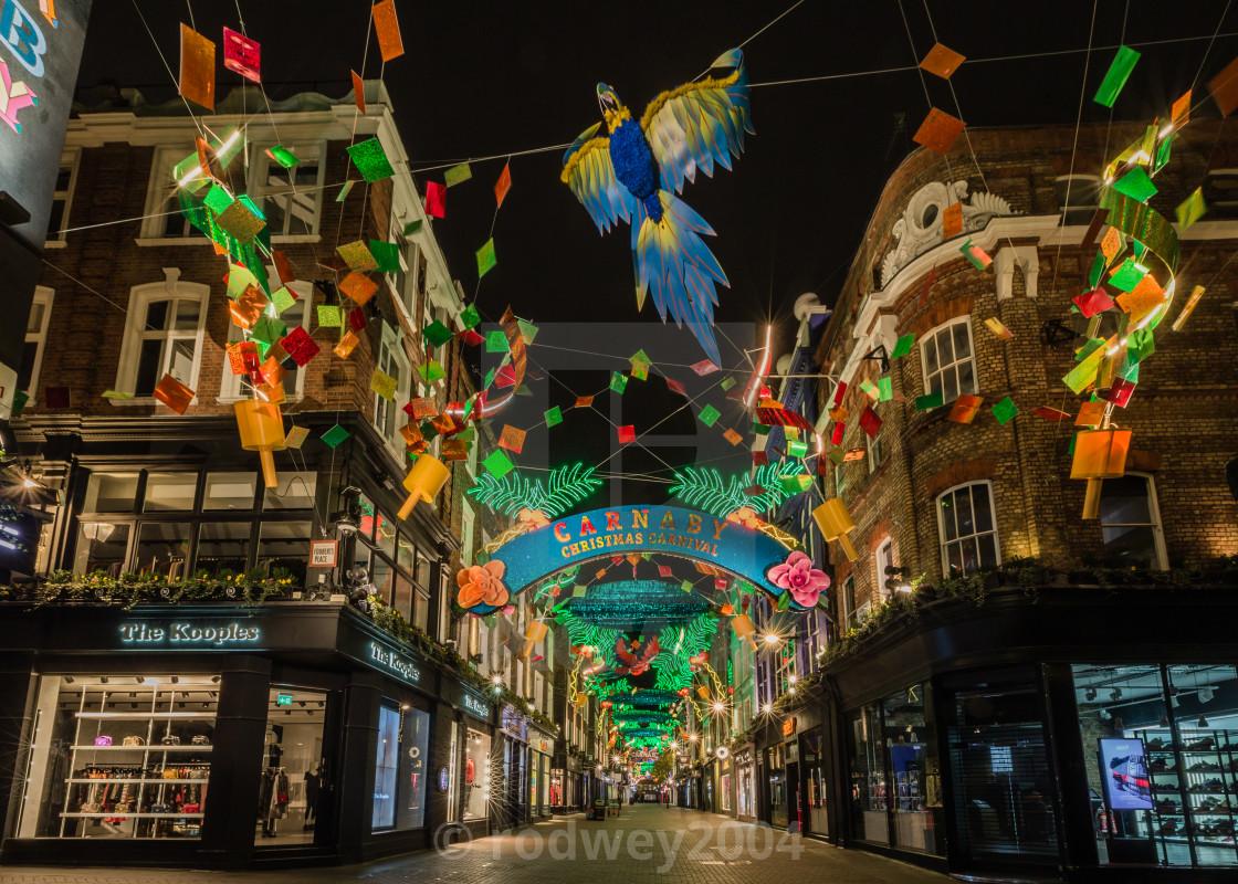 """Carnaby Christmas Carnival"" stock image"