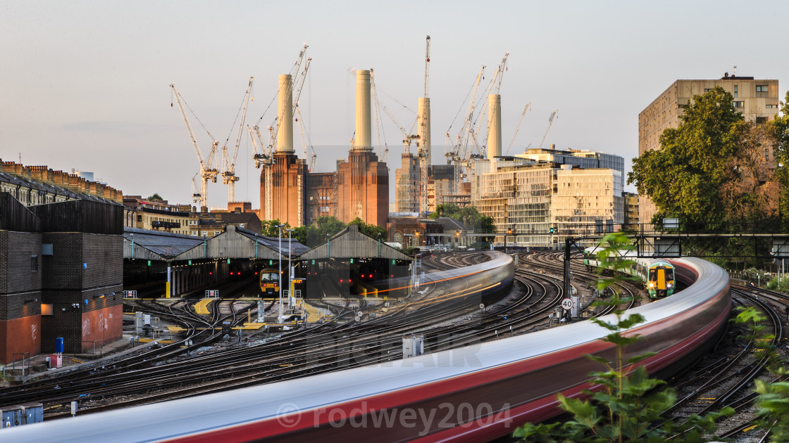 """Battersea At Sunrise"" stock image"