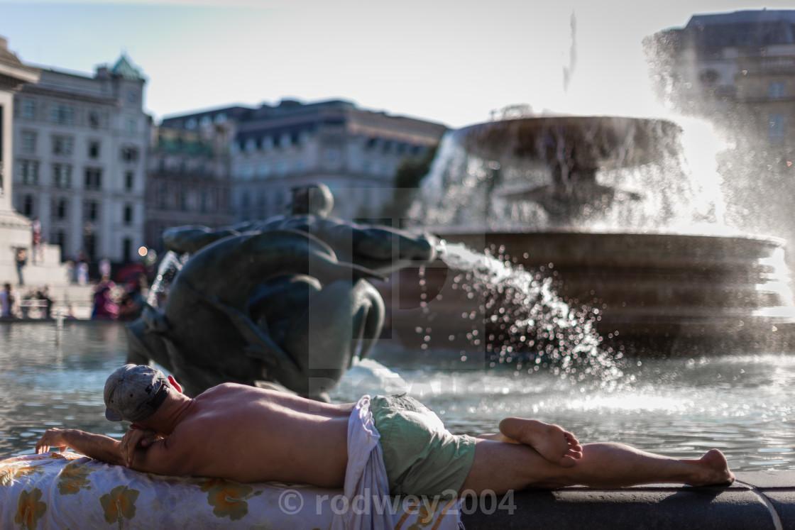 """Heatwave in London"" stock image"