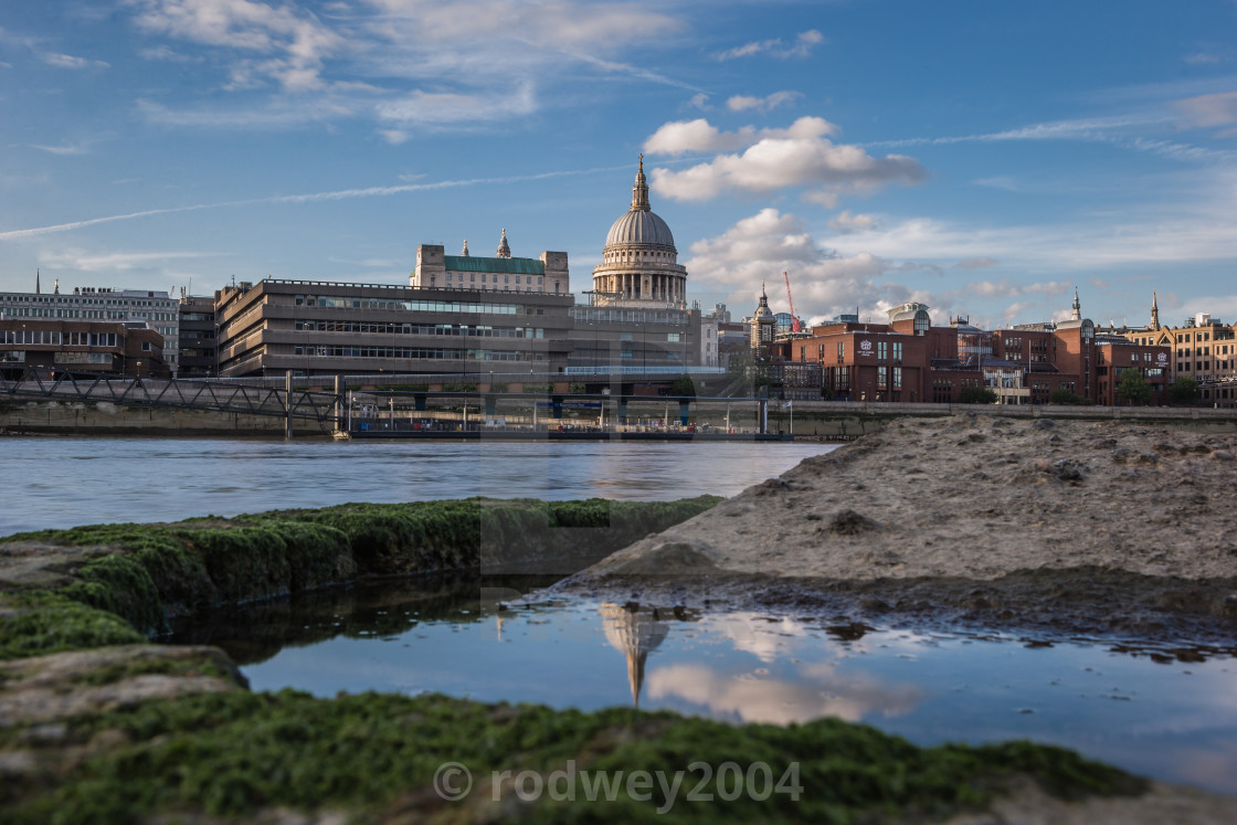 """""""St. Paul's Reflected."""" stock image"""