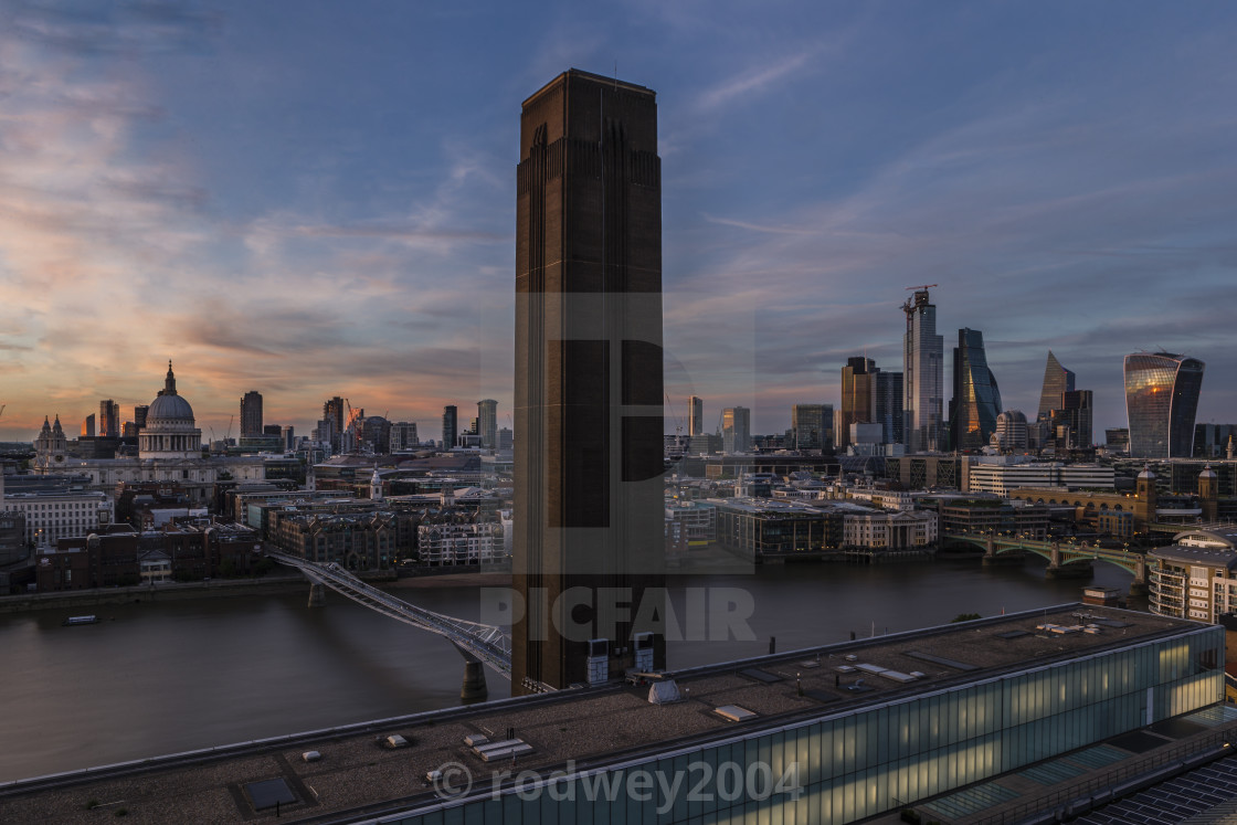 """Panoramic view of London"" stock image"
