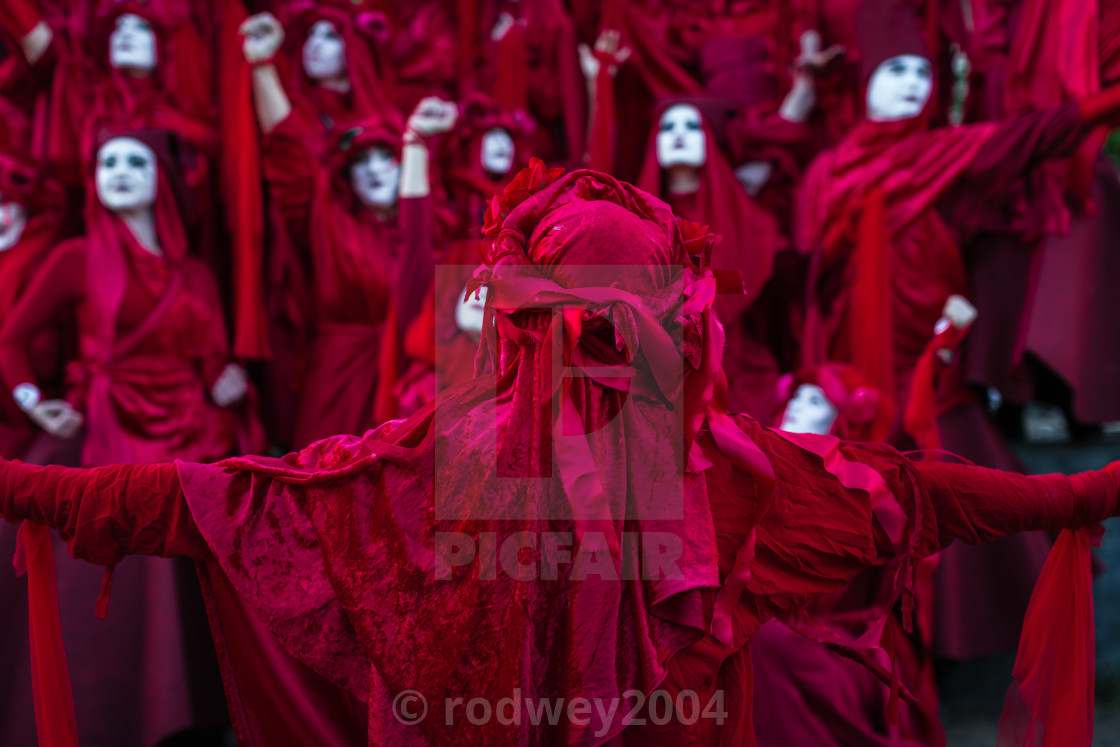 """Red Brigade In London"" stock image"