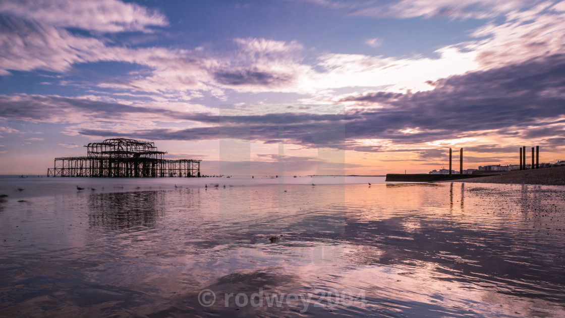 """Brighton At Sunset"" stock image"