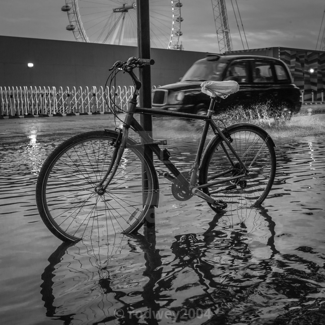 """Flooded London."" stock image"