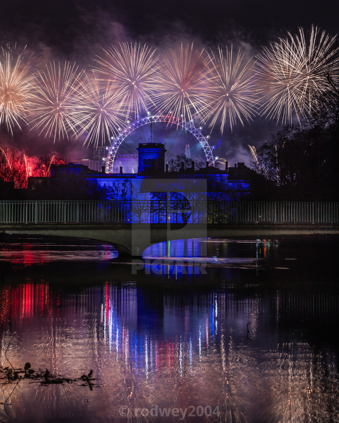 """""""New Year Begins. London 2020"""" stock image"""