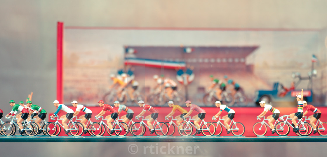 """Vintage Tour de France toys"" stock image"