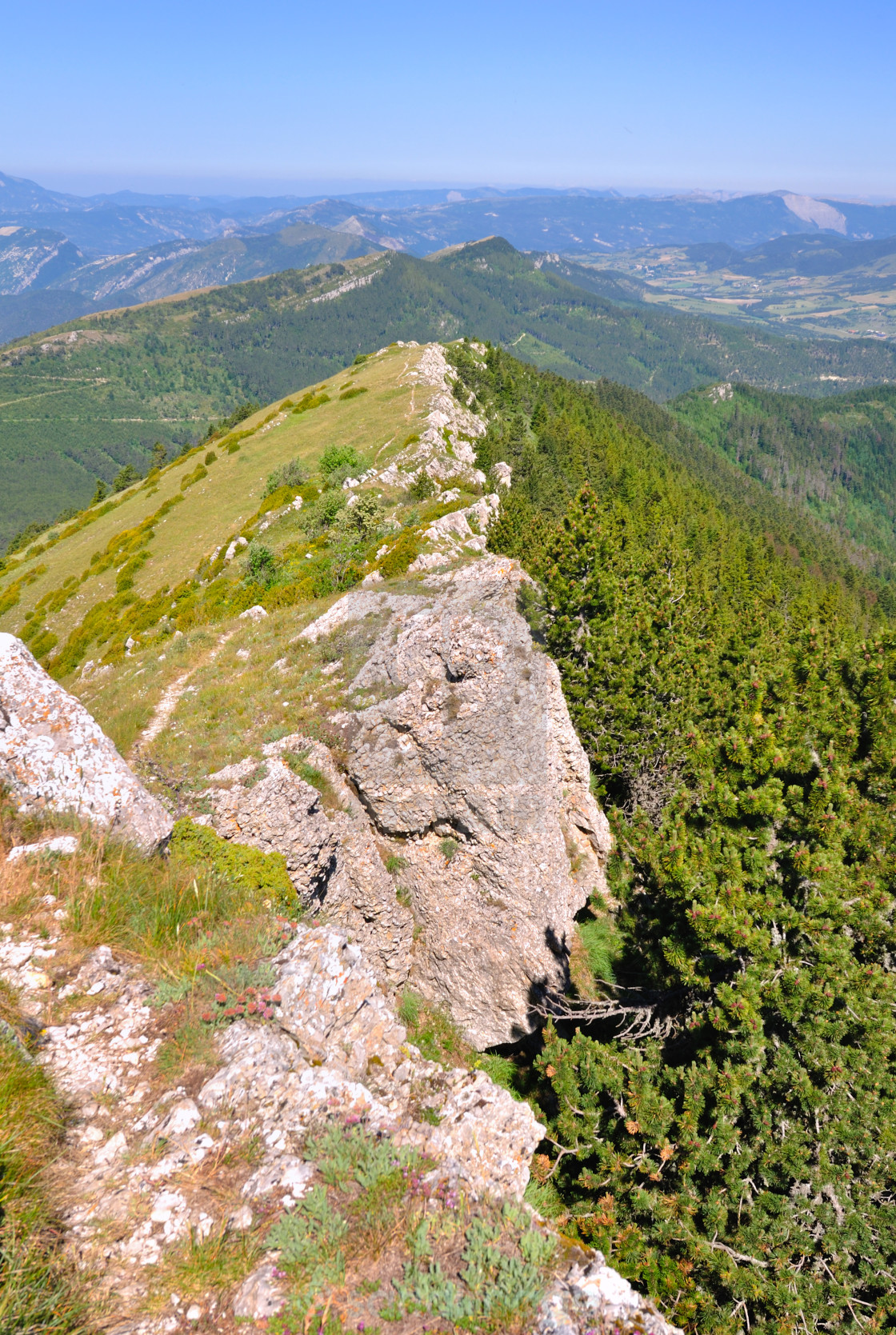 """""""mountain landscape in the Drôme in France"""" stock image"""
