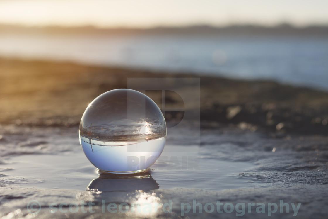 """Sunset Ball"" stock image"