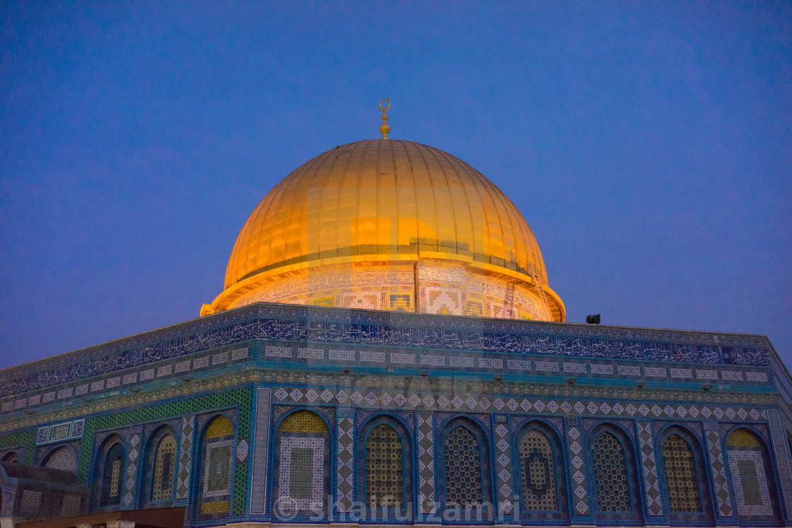 """Dome of the Rock Islamic Mosque Temple Mount"" stock image"