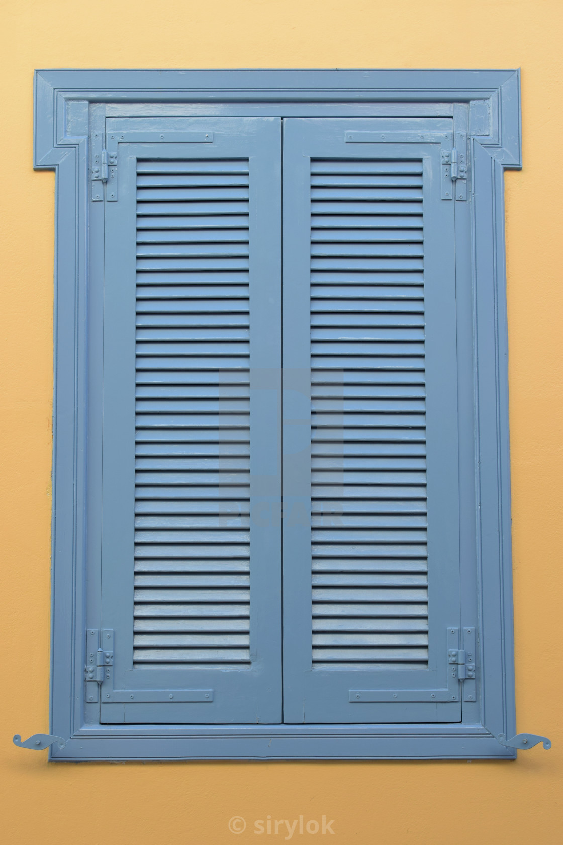 Blue Window Wooden Shutter License Download Or Print For
